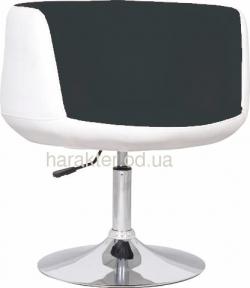 Кресло Яффо P, кожзам, цвет черно-белый мдс