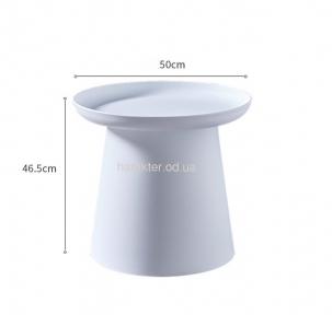 Стіл кавовий, для шезлогов, пляжний Патрик D-500 *465H, пластик білий