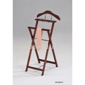 Вешалка раскладная деревянная CH-4294-С, вешалка складная напольная, Вішалка розкладна дерев'яна, вішалка складна підлогова