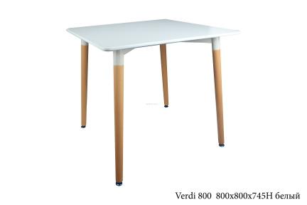 Стол обеденный Verdi 80*80, 120*80 - столешница МДФ (цвет белый, черный, серый 120*80)