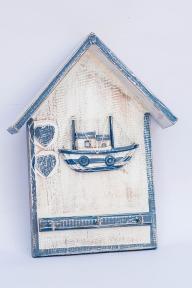 Вешалка-домик 30*24 см (корабль, маяк, рыба) 20330 эм