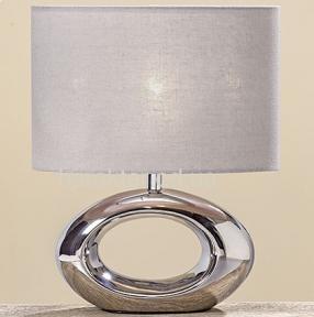 Лампа Нежность серебряная керамика h33см современный стиль ГП 8095500