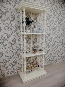 Стеллаж, этажерка, полка в стиле Прованс РБК ПР-13 из ольхи или ясеня покраска в любой цвет