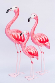 Декор морской Семья фламинго, 45, 40, 30 см 33091