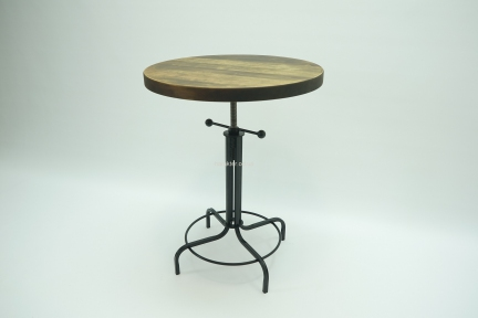 Стол Labindastrial-2 круглый винтовой дерево, металл Лофт