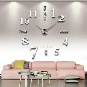 Часы настенные 3D ZH015 (черный, золото, серебро) ат