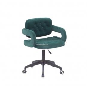 Кресло офисное, стул офисный, компьютерный Gor (BK Modern Office) на черном основании колеса