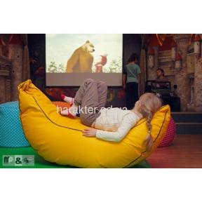 пуф Банан XXL, бескаркасная мебель