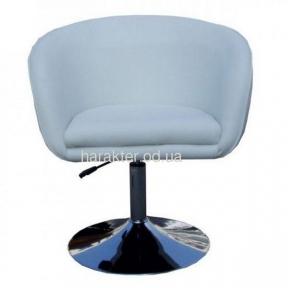 Кресло Дамкар, поворотное, на блине, основа хром, кожзам Неаполь