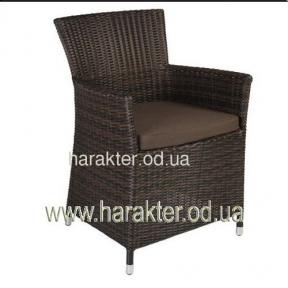 Кресло ротанговое Wicker с подлокотниками коричневый ввк