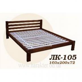 Ліжко двоспальне Л-205, кровать двуспальная деревянная из ели Л-205