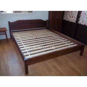 Ліжко двоспальне Л-206, кровать двуспальная деревянная из ели Л-206