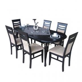 стол обеденный деревянный раскладной Тис-6 (160)