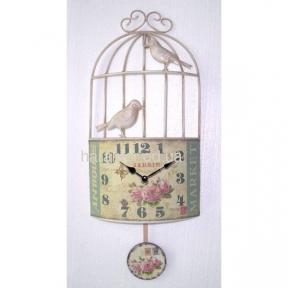 Часы прованс Клетка