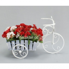 подставка для цветов в стиле кантри, прованс Велосипед 1 мал