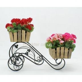 подставка под цветы в стиле кантри, прованс Тачка2 (хк)