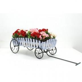 подставка для цветов телега в стиле кантри, прованс