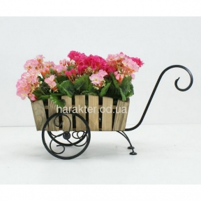 подставка для цветов в стиле кантри, прованс Тачка Лебедь