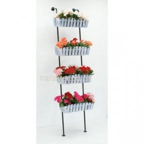 Подставка для цветов Лестница 4 в стиле кантри, прованс