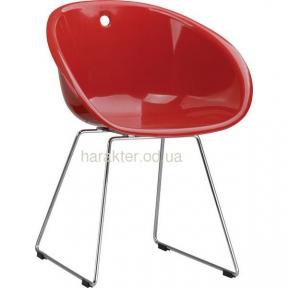 Стул Дэвис, пластиковое сиденье, хромированные ножки (чёрный) СТОК