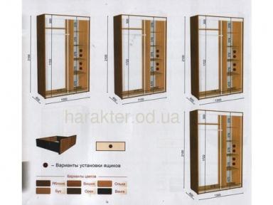 Шкафы купе длиной 1м/ 1,1м/ 1,2м/ 1,3 м  глубиной 0,6 м или 0,45 м высотой 2, 1м