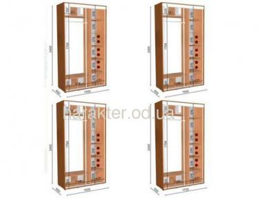 шкаф купе длиной 1,4/1,5/1,6/1,7/1,8м глубиной 0,6м или 0,45м высотой 2,4м