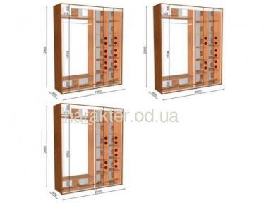 шкаф-купе длиной 1,9 м/2м/2,1м  глубиной 0,6м и 0,45м высотой 2,4м
