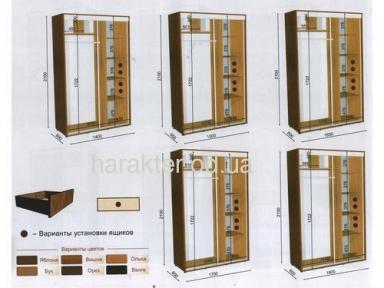 Шкаф купе длиной 1,9/2/2,1м глубиной 0,6 или 0,45м высотой 2,1м