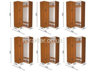 Шкаф купе с одной раздвижной дверью высотой 2,1м или 2,4 м