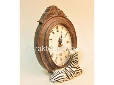Часы зебра 14х11.5х21см