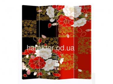 Ширма декоративная NY-1081-4 с фотопечатью двухсторонняя ом