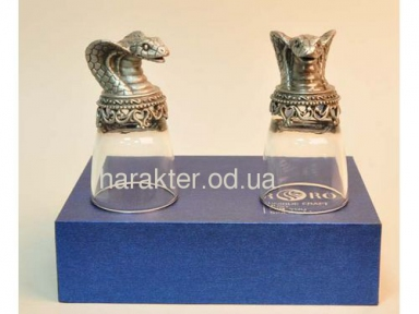 Рюмки в виде животных (кобра) 2шт КС103811