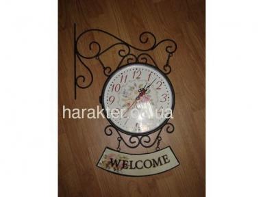 Часы 2-х сторонние Welcome 3047,  D=23 см