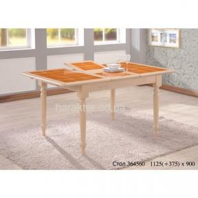 Стол обеденный СТ364560 беленый дуб ОМ