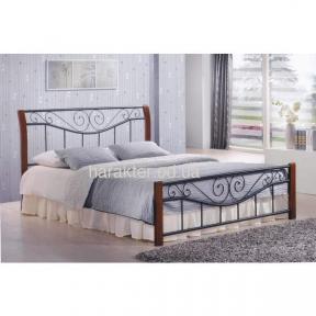 кровать двуспальная Ленора 160*200, 180*200 каштан