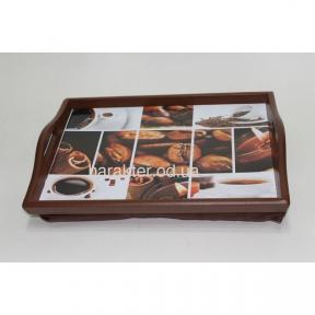 Поднос на подушке Кофе №8 с ручками