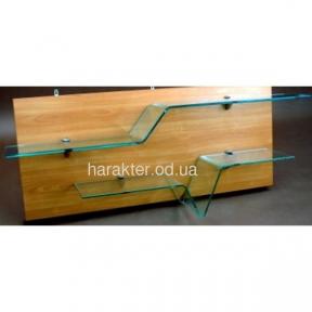 полка гнутое стекло H-полка