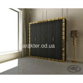 шкаф в раме Анжелика чёрный золото