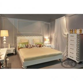 кровать дуспальная Анжелика в раме белый серебро 160*200, 180*200
