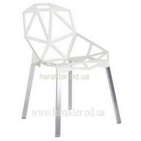 стул дизайнерский белый Chair one (с подушкой черной или без нее)