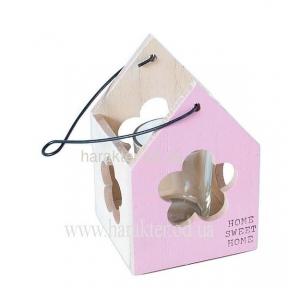 Подсвечник деревянный подвесной (бабочка, птичка, цветочек)