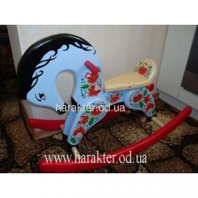 лошадка качалка 2 Финскаяс росписью