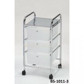 Системи хранения Bs-1011-3 W, візок сервіровки, полиці для кухні, сервировочная тележка