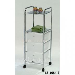 Системы хранения, стіл для сервіровки, полиця для кухні пересувна BS-1054-3-WТ