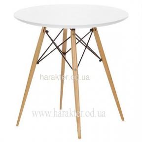 Стол обеденный Тауэр Вуд, круглый, диаметр 60 см, цвет белый, черный