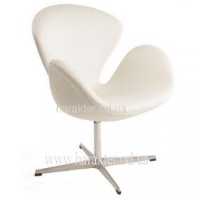 кресло  Swan кож.зам чёрный