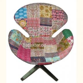 Кресло Swan ткань, имитация пэчворк, индия