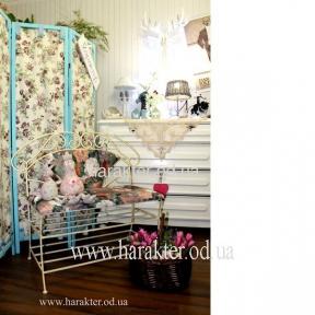 Кованая мебель Диван со спинкой в стиле Прованс, Кантри, скамейка