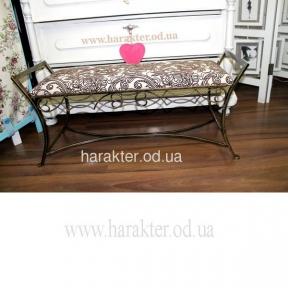 Кованая мебель Банкетка 01 кованая в стиле Прованс, Кантри