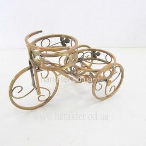 подставка для цветов кованая Велосипед2 малый